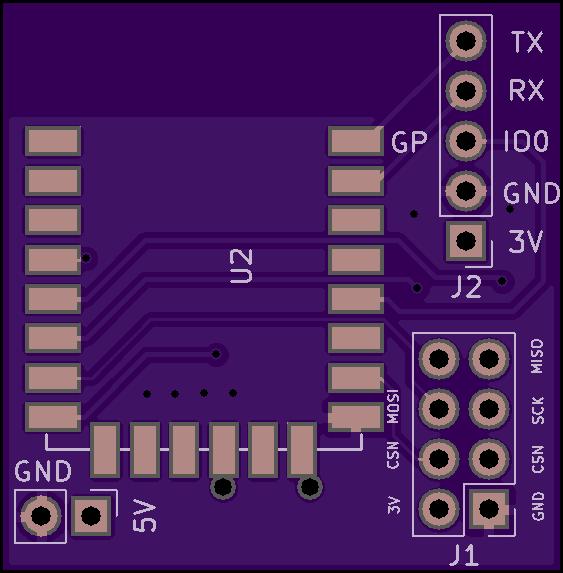 ESP8266 + nRF24L01 MiLight gateway PCB sandwich - 13-37 org electronics